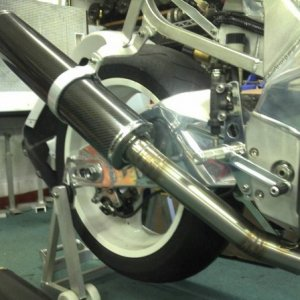 YZF750 Kit Carbon Fiber Silencer by Peter Day